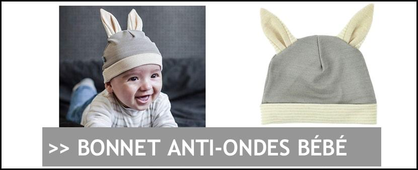 Achat bonnet protection anti-ondes pour bébé