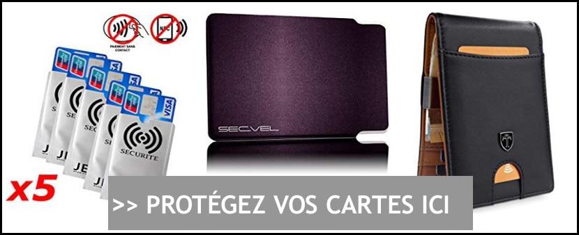 Achat Protection RFID/NFC pour Carte Bancaire